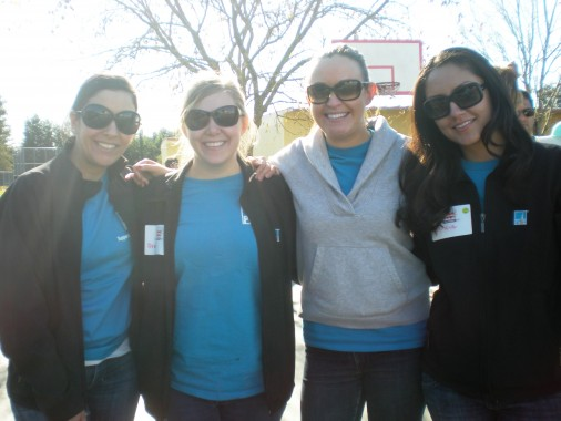 From left, PG&E's Jen Lujan, Brandi Ehlers, Kelli Nevin and Geneve Villacres.
