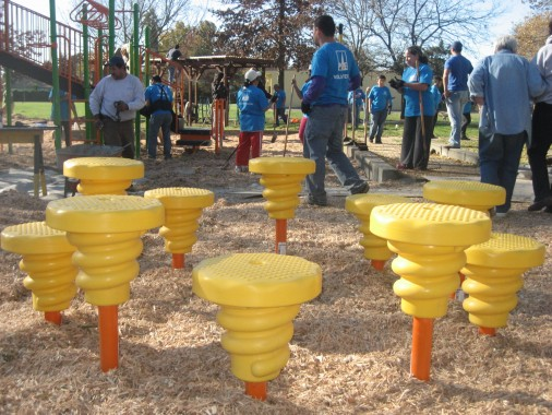 The playground will be open to everyone in the community.