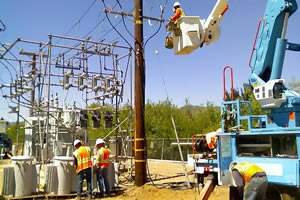 On Thursday, PG&amp;E crews worked to modify the Gasner Substation in Quincy in advance of the arrival and connection of three utility-scale mobile generators.