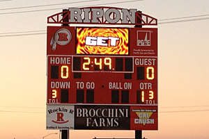 Ripon--New Scoreboard Dedication
