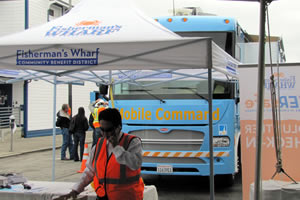 PG&amp;E brought its 39-foot-long Mobile Command Center vehicle to the emergency-preparedness event in San Franciscos Fishermans Wharf.