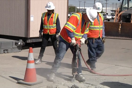 The emphasis is on safety at a boot camp for new gas workers.