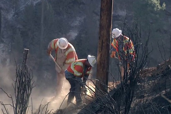 PG&E crews joined other first responders in the fight against the Rim Fire.