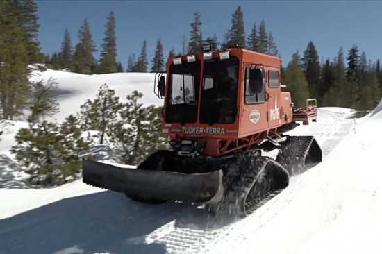 PG&E hydrographers sometimes need a Sno-Cat to reach snowpack-measurement locations.